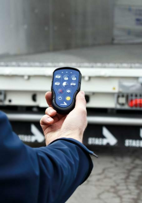 Remote control for walking floor trailers