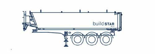 Parete anteriore inclinata, portellone posteriore diritto, lunghezza 8 metri