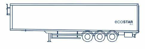 parete anteriore diritta, portellone posteriore diritto