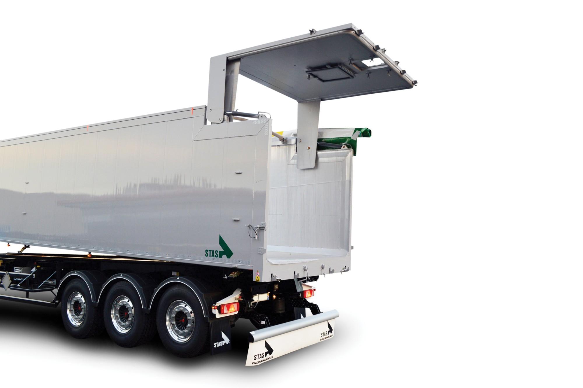 egyenes hidraulikus hátsó ajtó billenőplatós pótkocsihoz