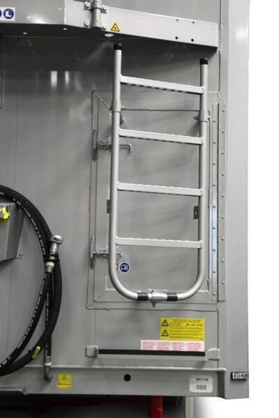 service door in the front bulkhead