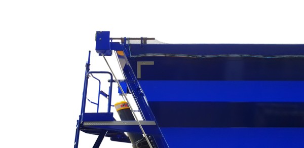 manually-operated double winged sheeting system